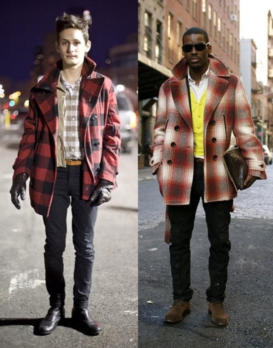 Abrigos de cuadros; una tendencia también para hombre este otoño. Imagen vía Time for Fashion blog Elle